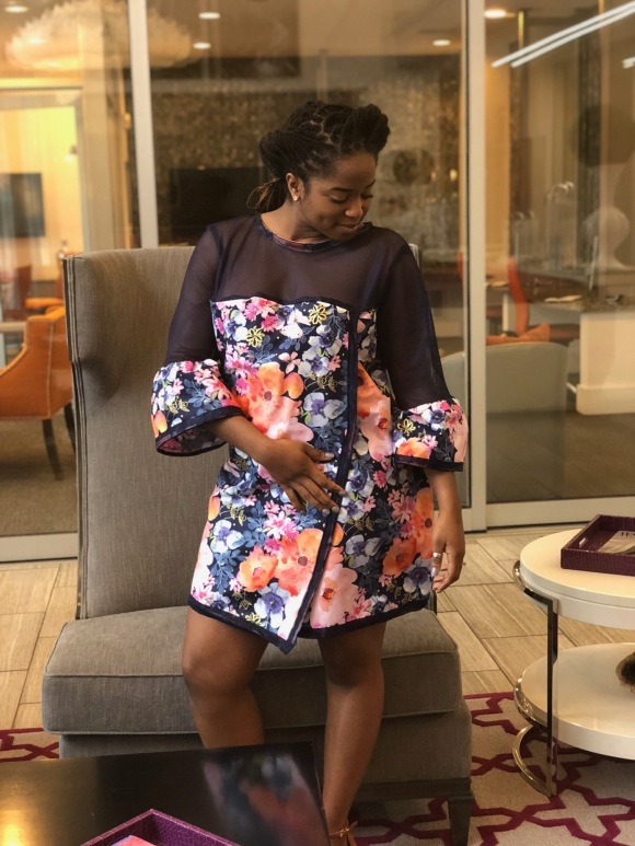 A New Perspective   The Meshed Floral Peek-A-BooDress